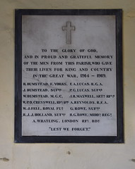 WWI parish war memorial
