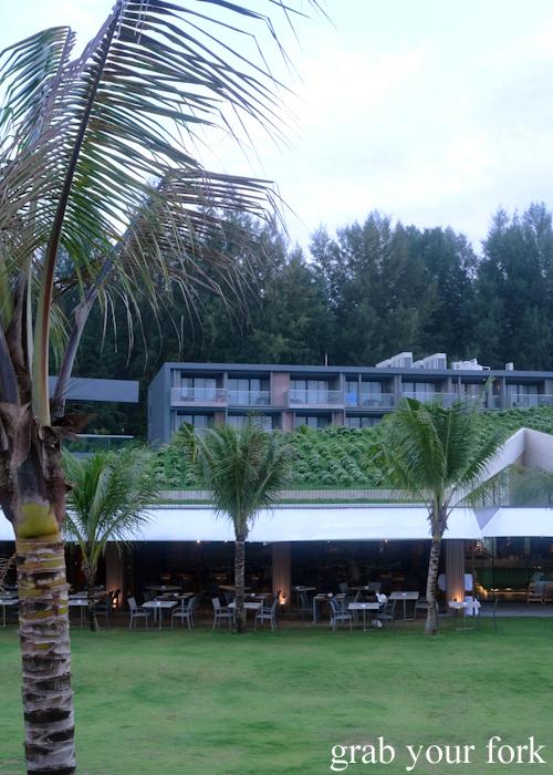 Dining room and apartments at La Vela Hotel Resort in Khao Lak, Thailand