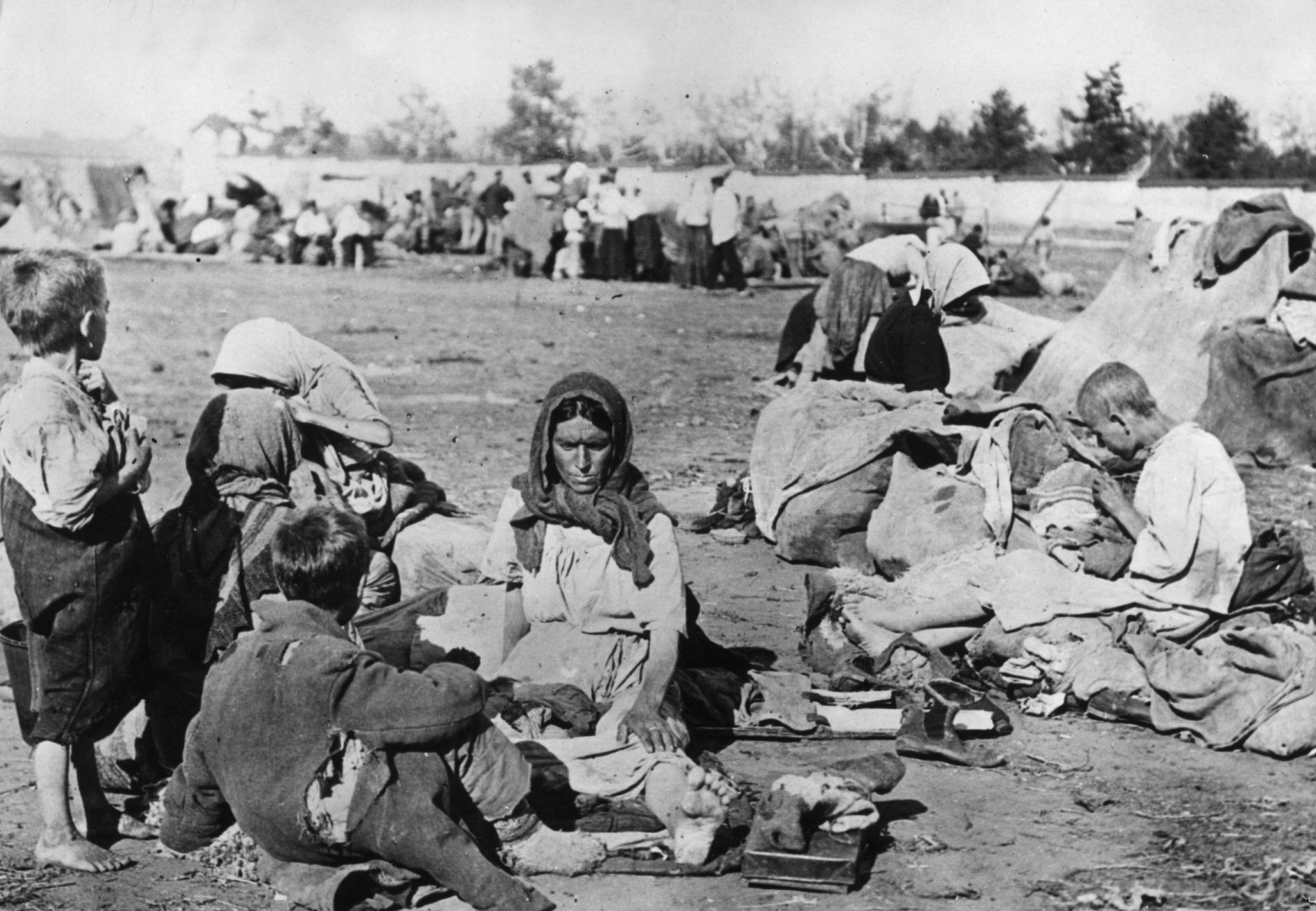 Голодающие беженцы в Поволжье
