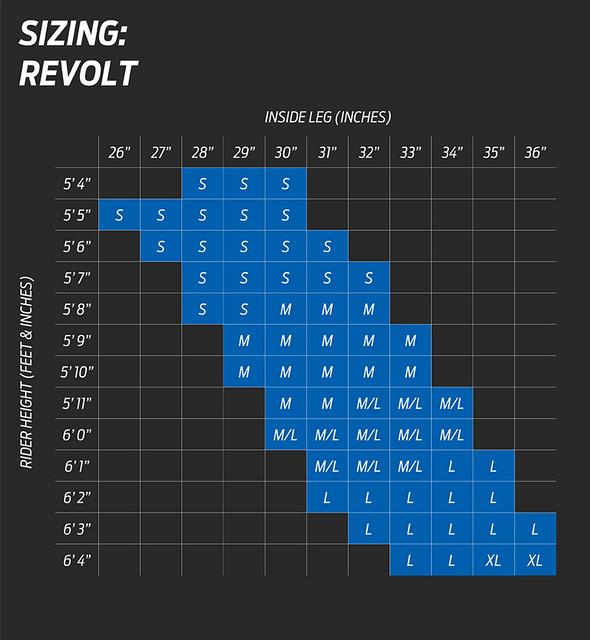 Giant Revolt Size Chart