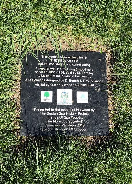 Beulah Spa plaque