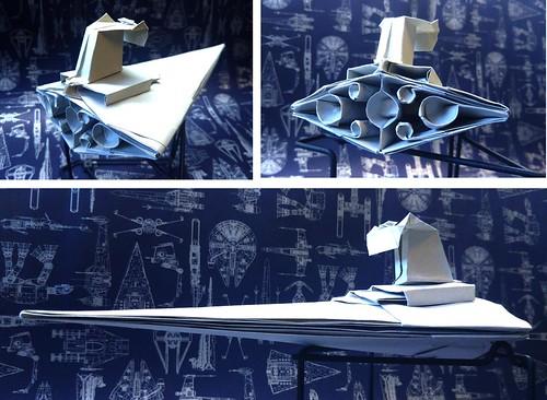 Another JEDI Kazuhide Minamijima just succeeded to fold my 30 degree Star destroyer origami
