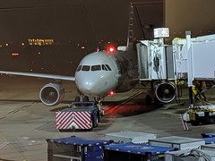 Our replacement American airlines aircraft has finally been towed over... Hopefully we will be boarding soon.
