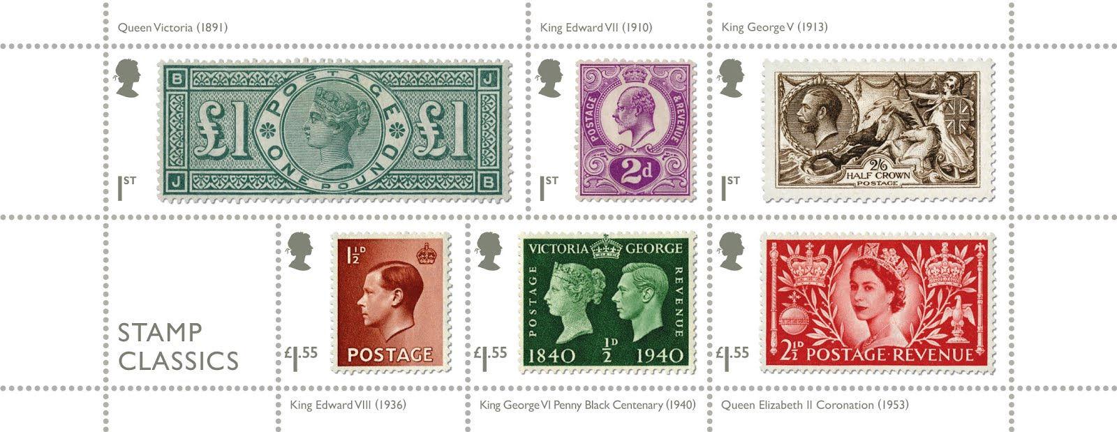 Great Britain - Stamp Classics (January 15, 2019) miniature sheet of 6
