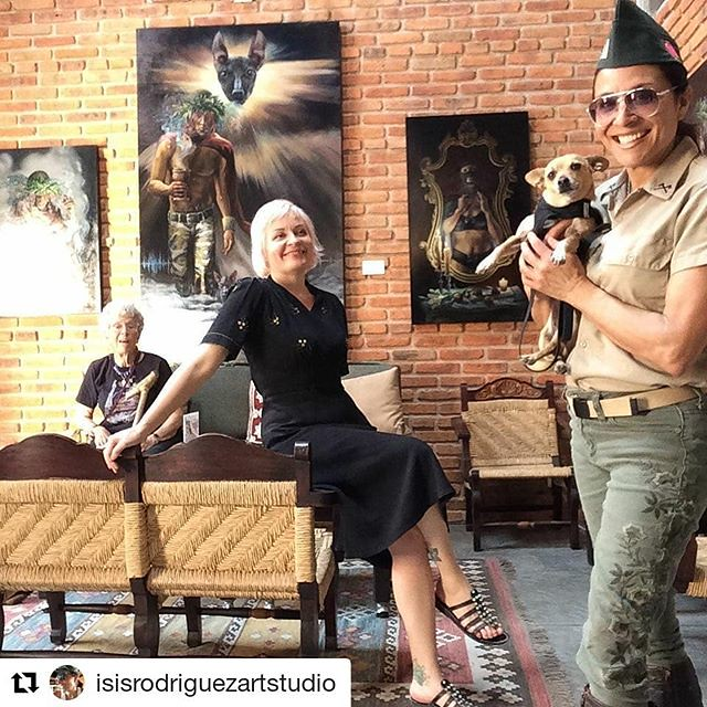 Repost of @isisrodriguezartstudio Mom and I just got a tour of incredible artist Isis Rodriguez's studio in San Miguel de Allende. I knew Isis back in San Francisco, we were both in the book Vicious, Delicious, Ambitious by Sherri Cullison. I love the per