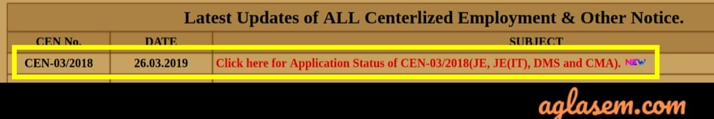 Railway Releases RRB JE Application Status 2019; CBT 1 to be Held in April / May