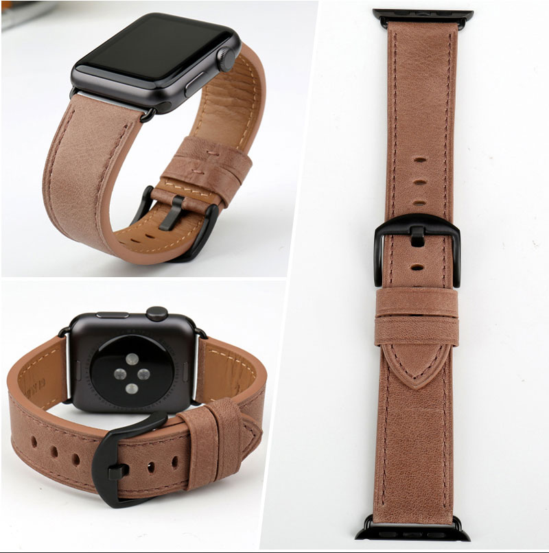 brown apple watch band for apple watch serials 3, 4
