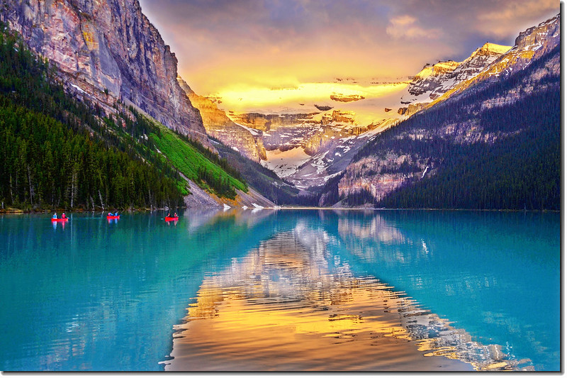 Lake Louise sunrise (1)