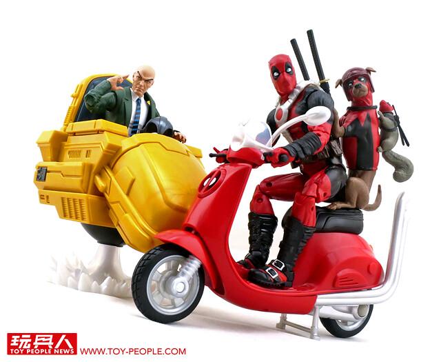 機動力就是我的超能力!孩之寶漫威傳奇系列6吋收藏人物與交通工具「死侍 & X教授」開箱報告