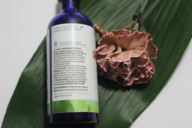 Inciopas farfalla piparminttuvesi kosmetiikan ainesosat inci