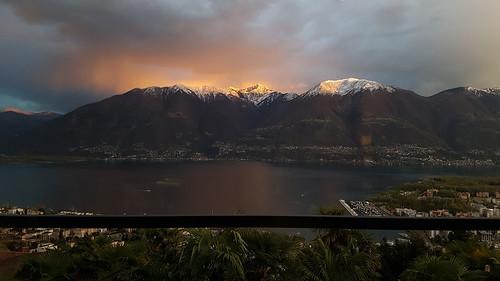 Hotel Stella-Abendstimmung am Lago Maggiore