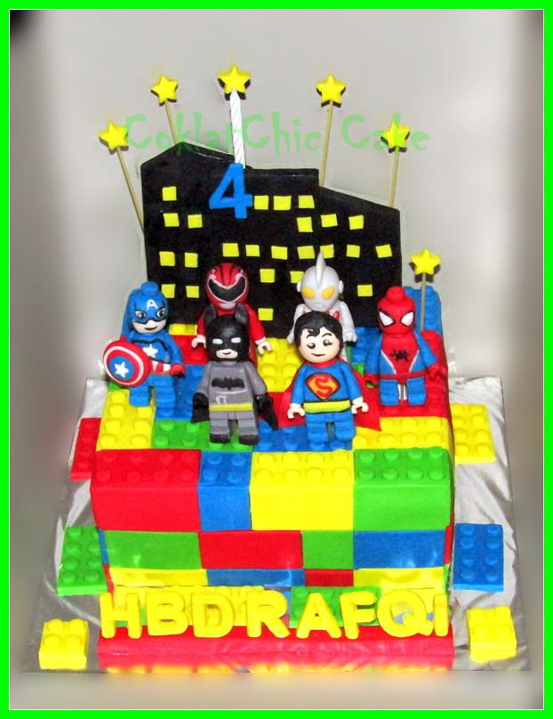 Cake Lego Superhero RAFQI 20 cm