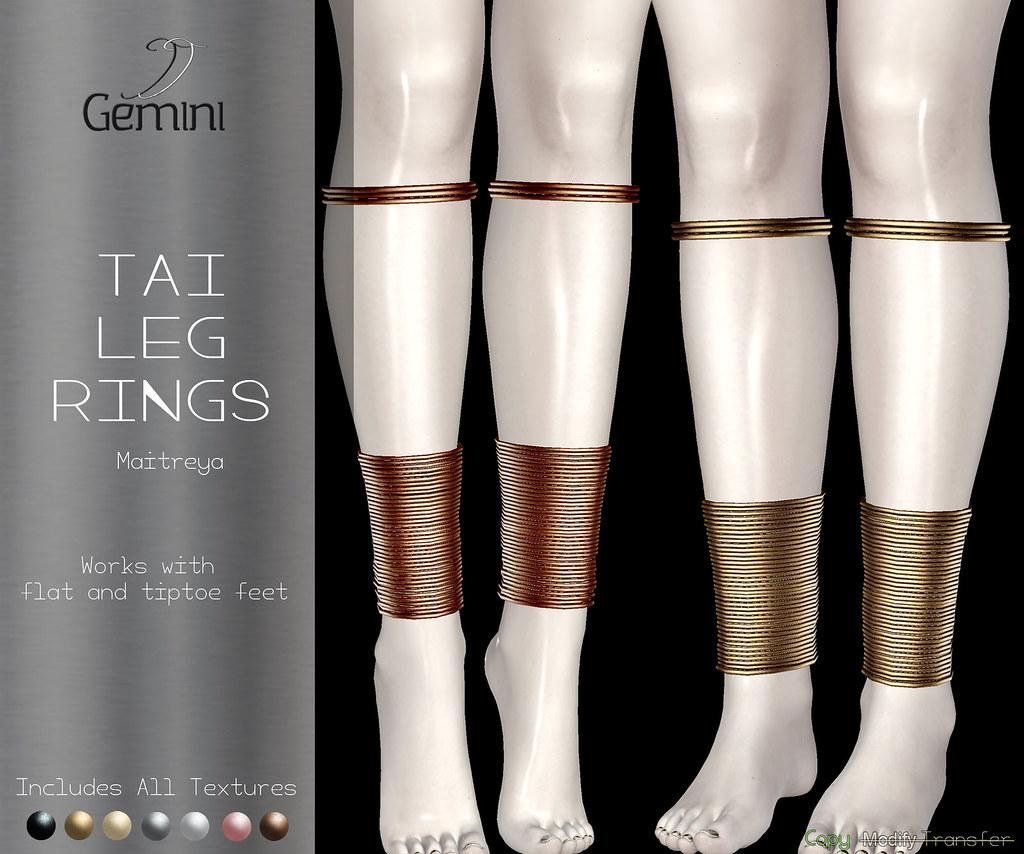 •Gemini -Tai Leg Rings- @ Unik• - TeleportHub.com Live!