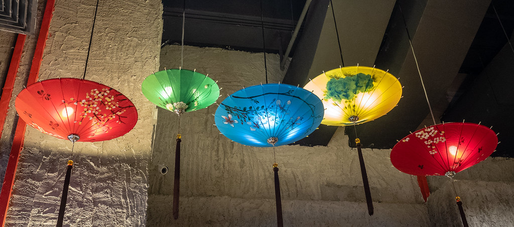 Colorful umbrella in House of Pok (小猪猪)