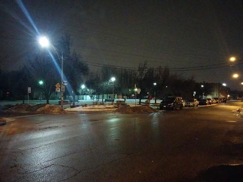 Looking northeast at Bartlett Parkette, Geary and Bartlett #toronto #davenport #bartlettparkette #gearyave #bartlettavenue #night #latergram