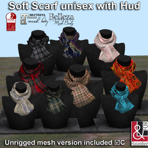 Soft Scarf unisex with Hud