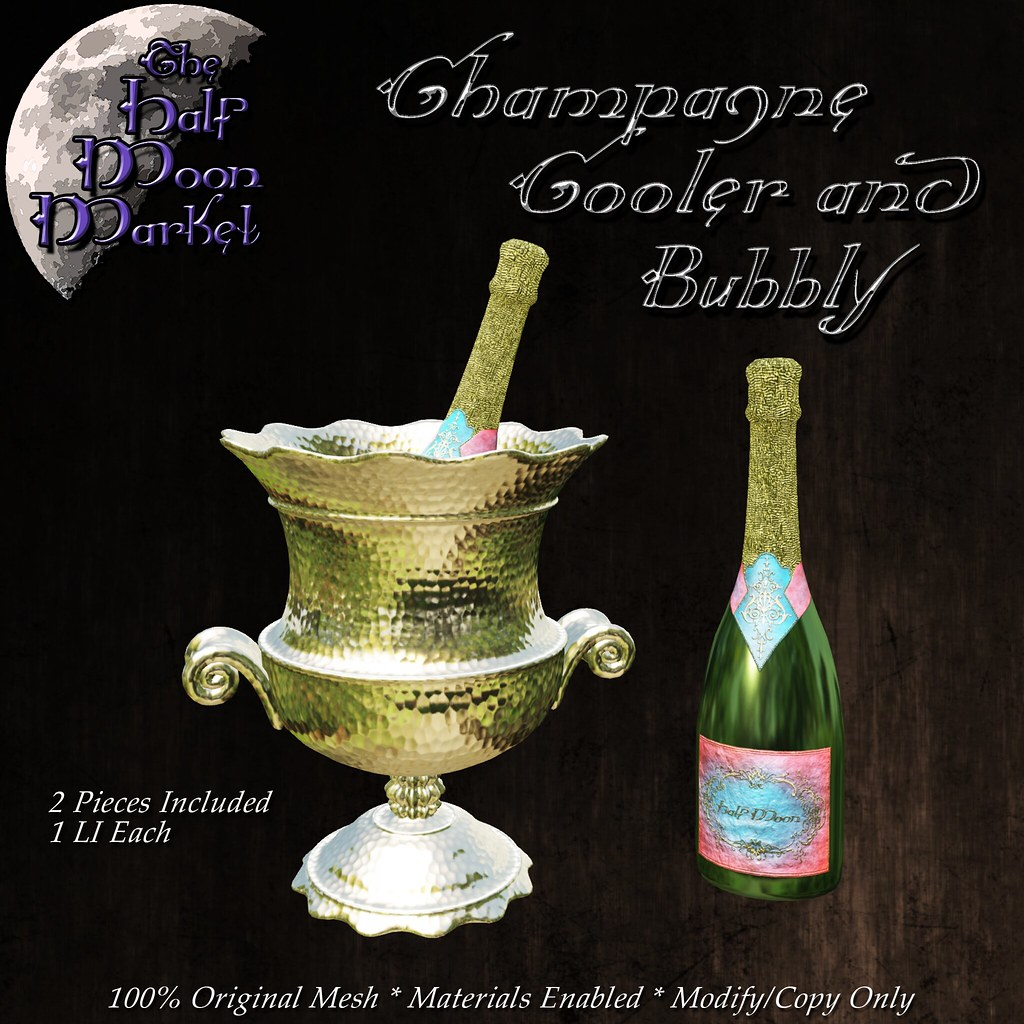 """Champagne Cooler and Bubbly"" by the Half Moon Market –  MadPea Premium Alliance Hunt: The Golden Pea Awards!"