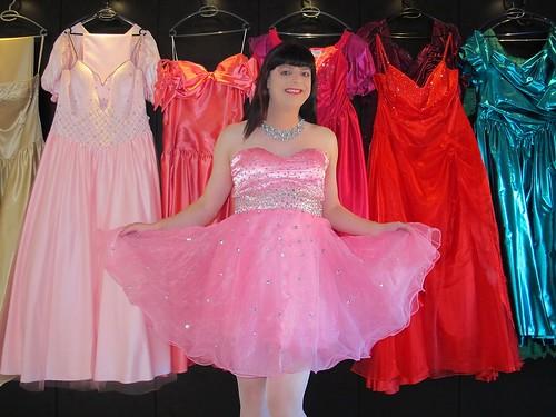 Pink dress skirt show