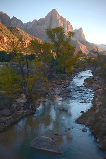 reflection on the virgin river