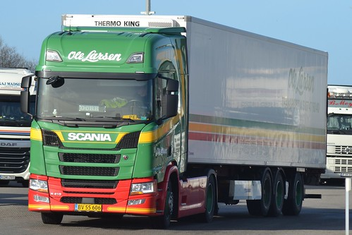 Scania New Generation - Scania R 410 - Ole Larsen Transport   - Nr120 - DK  BV 55 606