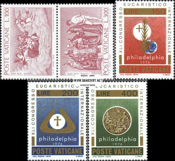 Známky Vatikán 1976 Tizian a Kongres, neraz. séria MNH