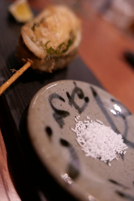 さよりと筍と大葉と沖縄の塩