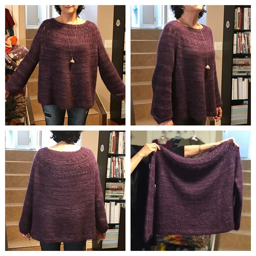 Love the beautiful purple of Kathy's Ranunculus by Midori Hirose knit with Manos Fino and Drops Kid Silk