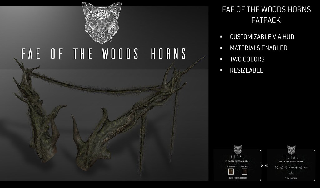 Feral - Fae of the Woods Horns - TeleportHub.com Live!