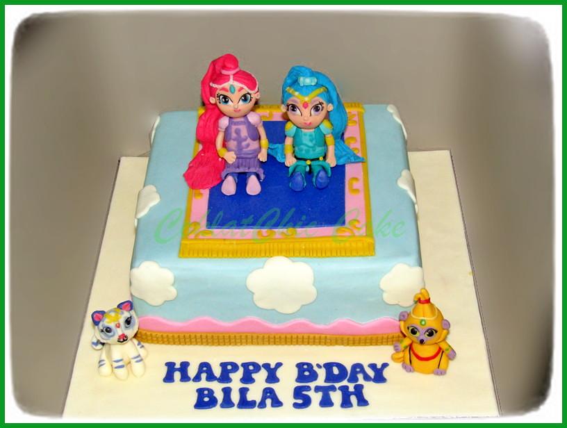 Cake Shimmer & Shine BILA 22 cm