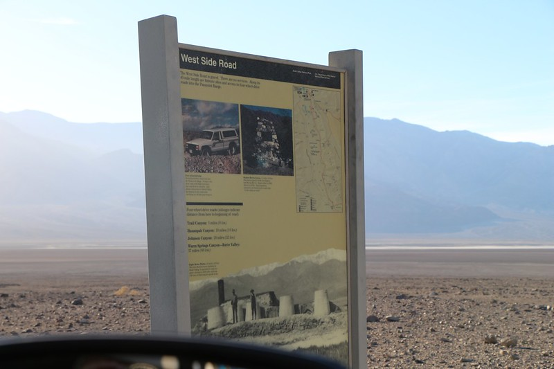 We drove back to Death Valley and decided to camp somewhere just off the West Side Road