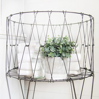 Wire Laundry Hamper Basket