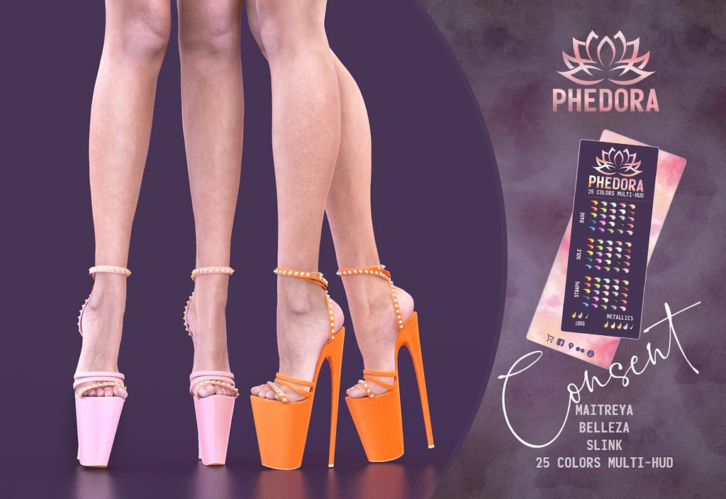 "Phedora. for Kinky Event​ ~ ""Consent"" Heels♥"