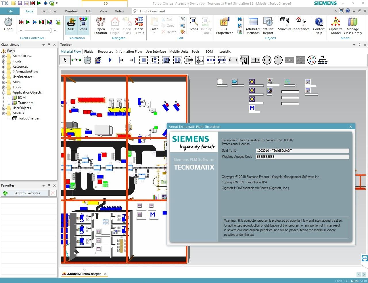 Working with Siemens Tecnomatix Plant Simulation 15.0 full