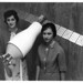 Women of Apollo: Ann R. McNair and Mary Jo Smith with Model of Pegasus Satellite, July 14, 1964 by NASA's Marshall Space Flight Center