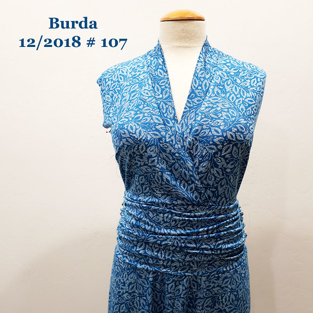 Burda blue dress in progress