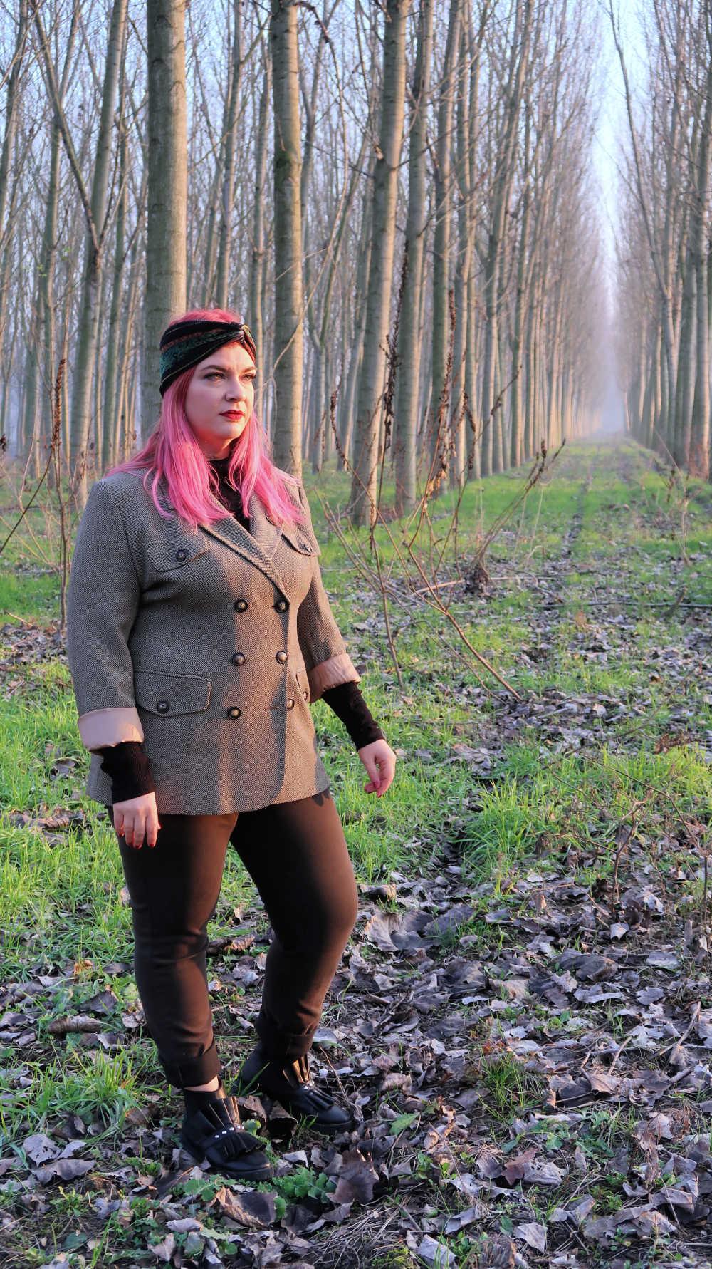 Outfit curvy e plus size, refashion giacca vintage (11)
