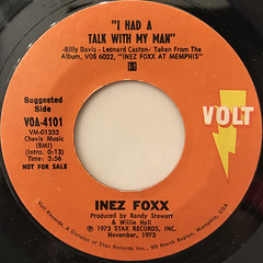 INEZ FOXX:I HAD A TALK WITH MY MAN(LABEL SIDE-A)