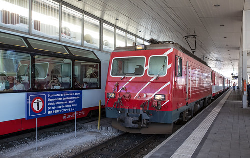 Matterhorn-Gotthard Bahn MGB 108  Disentis-Munstér 17 februari 2019