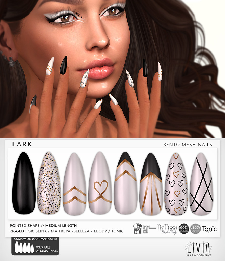 LIVIA // Lark Bento Mesh Nails [Designer Showcase]