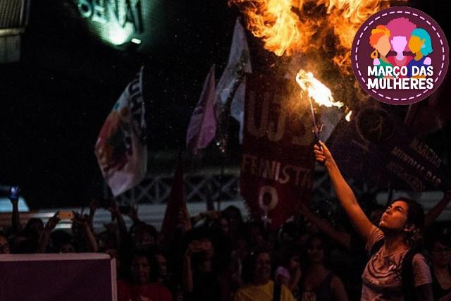 O ato de 2018 tinha como pauta a defesa da democracia, da vida das mulheres e a luta contra a Reforma da Previdência - Créditos: Bruna Caetano