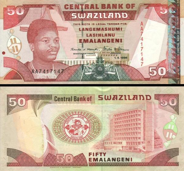 50 Emalangeni Swazijsko 1998, P26b