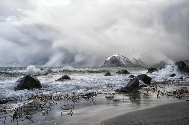 Polar low presure hits the land