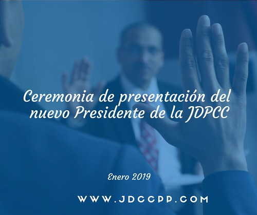 Ceremonia de presentación del nuevo Presidente de la JDCCPP