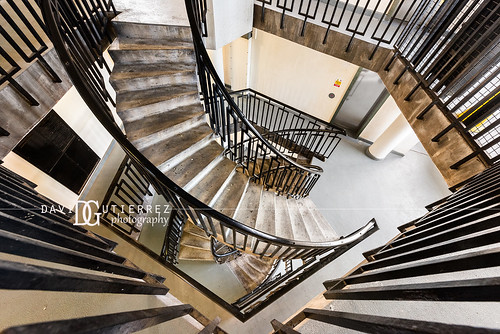 Stair Maze - Dorset Estate - George Loveless House, Bethnal Green, London, UK