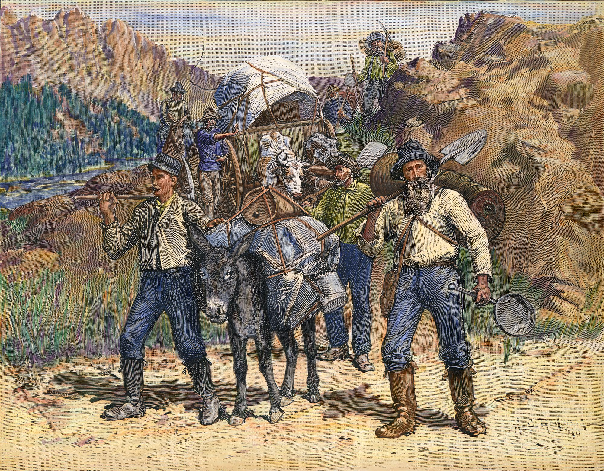 Forty-niners during the California Gold Rush