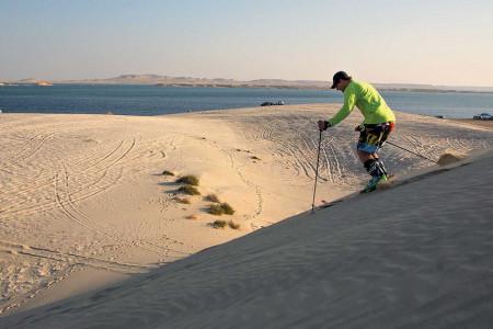 Katar: lyžařské dobrodružství v surrealismu písečných dun