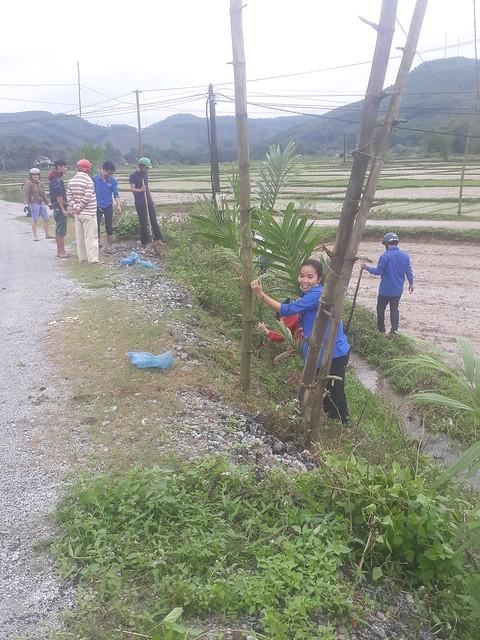 Đoàn xã Tam Đại trồng cây đầu năm