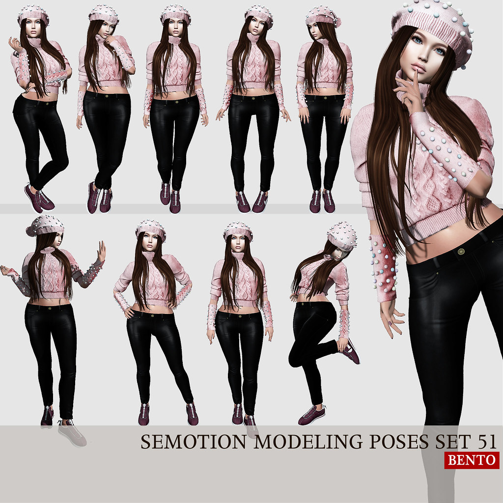SEmotion Female Bento Modeling poses set 51 @ Collabor88 - TeleportHub.com Live!