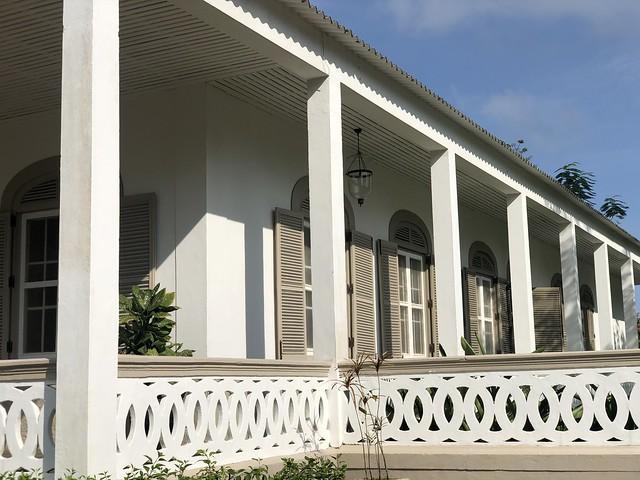 Edificio colonial donde se encuentra el hotel Roça Sundy (Isla de Príncipe)