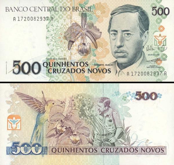 500 cruzados novos Brazília 1990, P222